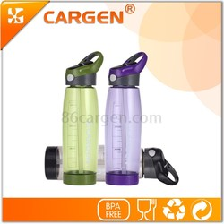 Hot new products for 2015 travel sport gym water bottle with straw