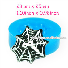 JYL172 Spider Web Silicone Mold with Eyes Sugarcraft Cake Decorating Gum Paste Candles Jewelry Butter Soap