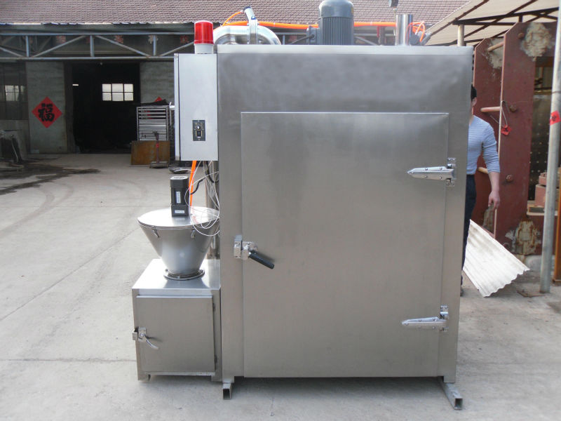 SM-250 full stainless steel smokehouse for beef with PLC control system