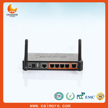 M2M 4 LAN Port HSDPA 3G WIFI Industrial Router with sim card slot