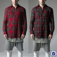 china wholesale mens clothing cheap lined flannel shirt quilted plaid flannel shirts