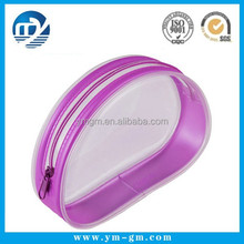 Professional clear vinyl travel mini cosmetic bag