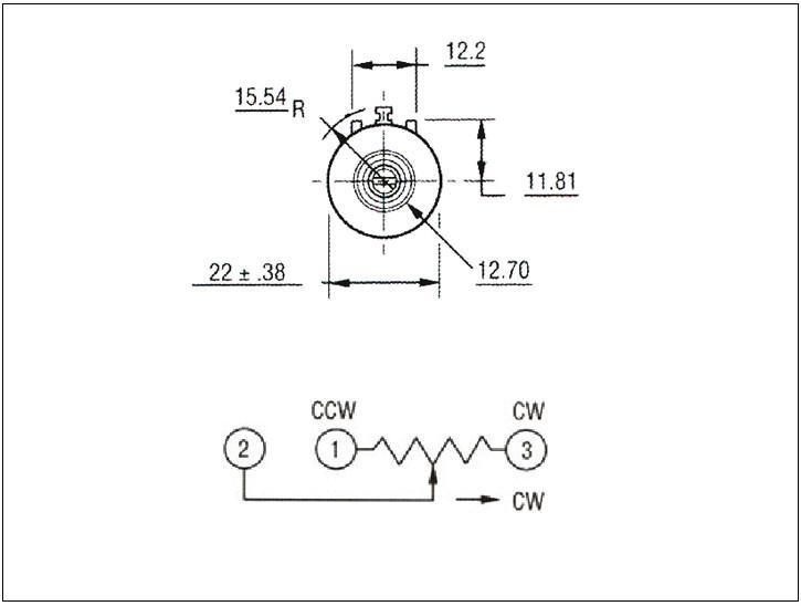 wxd3590 bochen precision multiturn potentiometer volume