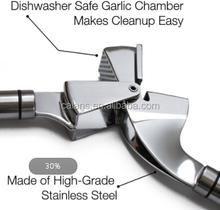 Acero inoxidable machacador ajo, giro prensa, herramienta de la cocina