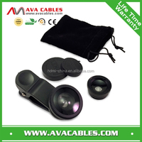 3 in 1 Universal magnetic lens Fish eye Macro wide angle lens for mobile phone camera for samsung galaxy s4 mini fisheye lens