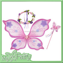 wholesale fairy wings theme party decorations Floral Headband Butterfly princess wand