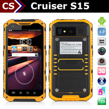 Cruiser S15 1.2GHz 2+8MP/NFC dual sim 3G android cheap waterproof mobile phone