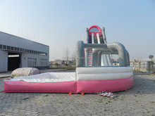 Pink water slide inflatable water slide for kids and adults