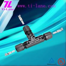 T4-Tee Connector T mc4 solar connector cheap 3d paper solar eclipse glasses broken solar cells