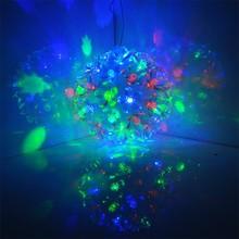 110-240V EU Plug 50 LED Ball Flower Fairy Lights For Christmas Party Wedding TK1355
