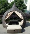 hechas a mano del templo de mimbre diván de mimbre muebles de jardín sofá cama