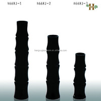 Modern Age and Decorative Usage Bamboo vase,black glass vase,decorative glass