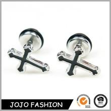 Hot sell fancy stud earring cross earrings sterling silver earring