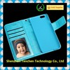 Colorful neat blue case wallet case for iPhone 6