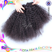 No tangle black cambodian afro kinky curly hair/tight afro kinky weave/soft and silky twist hair