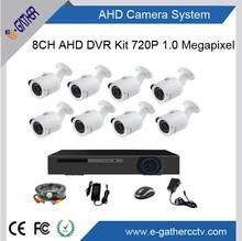 H. 264 video al aire libre en el hogar de vigilancia 8ch ahd de cámaras de seguridad del sistema