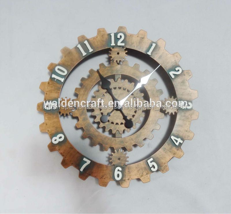 2015 de artesanías de metal colgando decoración de la pared decoración de hogar de hierro forjado del reloj de arte