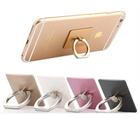 Ring desktop cell mobile smart phone holder, cell ring holder