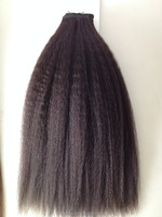 Best Quality Wholesale cheap unprocessed malaysian afro kinky curl sew in human hair weave