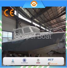 CE certification 8M Large Cabin Aluminum Fishing Vessel outboard motor