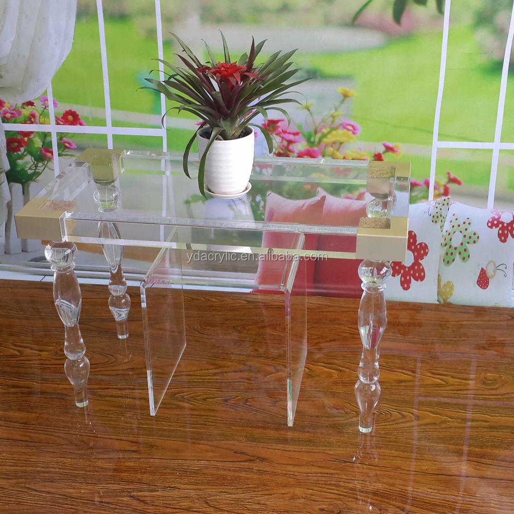 Eenvoudige goedkope rechthoek acryl transparant salontafel ...