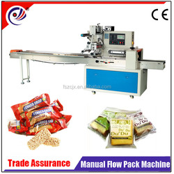 manual egg roll/croissant/donut/swiss roll/waffle roll/filling flow pack machine