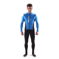 Monton top quality PRO Bull Thermal sublimation blue cycling wear