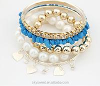 fashion multilayer pearl bracelet,ladies bracelet models(swtaa1055)