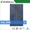 Bluesun Best Quality poly 250w polysilicon solar panel 30V for projects