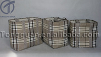 2015 Newly designed flax/jute/linen storage basket with wholesale price