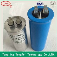 RoHS compliant CBB65 air compressor start capacitors 5uf 450v