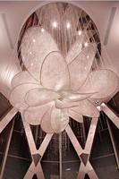 Lotus shapes large crystal chandelier K9 crystal/Asfour