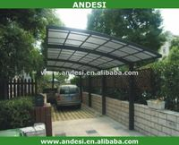 weather resistant plastic shed for car parking