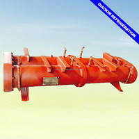 Fourth system shell and tube type water cooled 55T condenser for air conditioning unit for mall