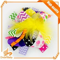 Yellow Feather Party Hair Band for lovely baby hand make headhand