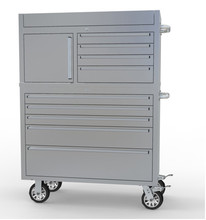 Heavy-duty 41'' tool chest&cabinet combo with galvanized drawers & 14''slide