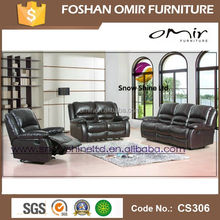 Genuine Leather Brown Color Functional Sofa Sets CS-306