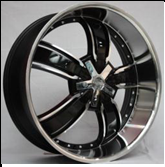 beautiful alloy aluminum wheel for car with five spoke 18-26inch