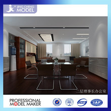 simple and comfortable environment 3D office interior design