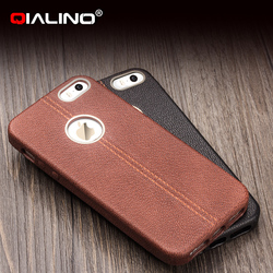 QIALINO Super Thin Professional Replacement Parts For Iphone 5 Back Cover Housing Imported Leather