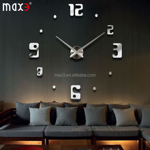 Large DIY Clock For Sales Promotion/Diy Mirror Wall Clock For Home Decoration