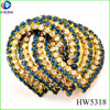 Heart shape metal Overlap with crystal rhinestone for women garment and shoes accessories