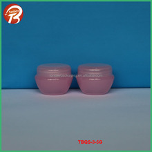transparent red 5G PP empty cosmetic jars from CHINA