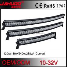 "50"" curve 288w aluminum housing led light bar 36w/72w/120w/180w/240w/288w high lumens led offroad light bar 50 inch for cars"