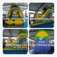 Forest gaint inflatable floating water slide