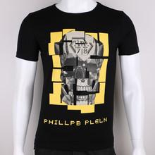 Latest design short sleeve printing black t-shirt mens 100 cotton t shirt
