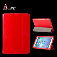 High quality genuine leather tablet case for ipad mini 2