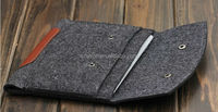 2015 Simple Style Wool Felt & PU Leather Sleeve Case For iPad 2/3/4 AIR/AIR2 Tablet Universal