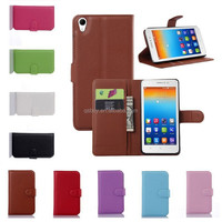 High quality litchi pu leather wallet flip case for Lenovo S850 mobile phone case