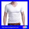 Wholesale blank V neck t-shirt china manufacturer man white t shirt bulk buy garment OEM design custom factory clothing t-shirt